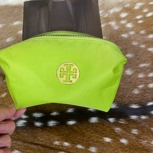 Tory Burch Lime Green Cosmetic Bag